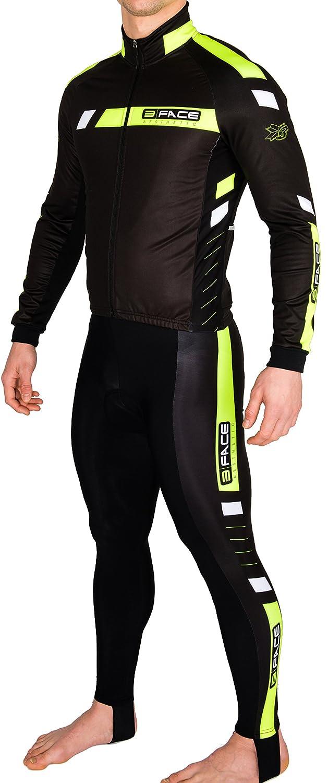 Completo ciclismo invernale giacca + calzamaglia windstopper termico Flux Threeface