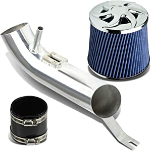 Aluminum Air Intake System w/ 6.8 inches Ninja Star Open Top Blue Filter Replacement for Nissan Altima I4 2.5L 07-12