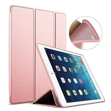 Funda para iPad Mini 4 Goojodoq con función magnética de apagado/encendido automática, con cuero de PU, TPU y silicona suave a prueba de golpes dorado ...
