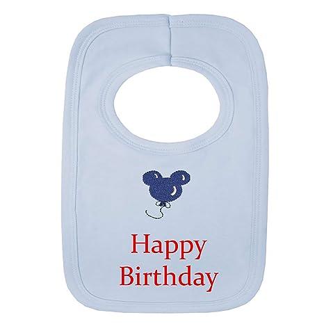 Personalizable bebé babero - feliz cumpleaños globo - (no ...
