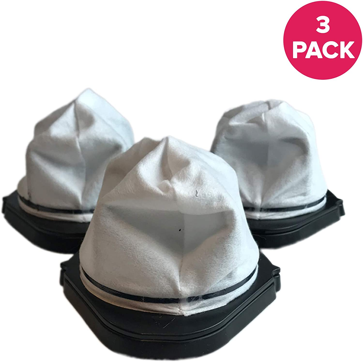 Crucial Vacuum Replacements Vacuum Dust Cup Filter Compatible with Shark Part # XF769,XSB726N & Models SV728NC,SV728N-1,SV736,SV738,SV738C,SV738CV,SV748,SV726N,SV728N,SV719,SV736R,SV736CR (3 Pack)