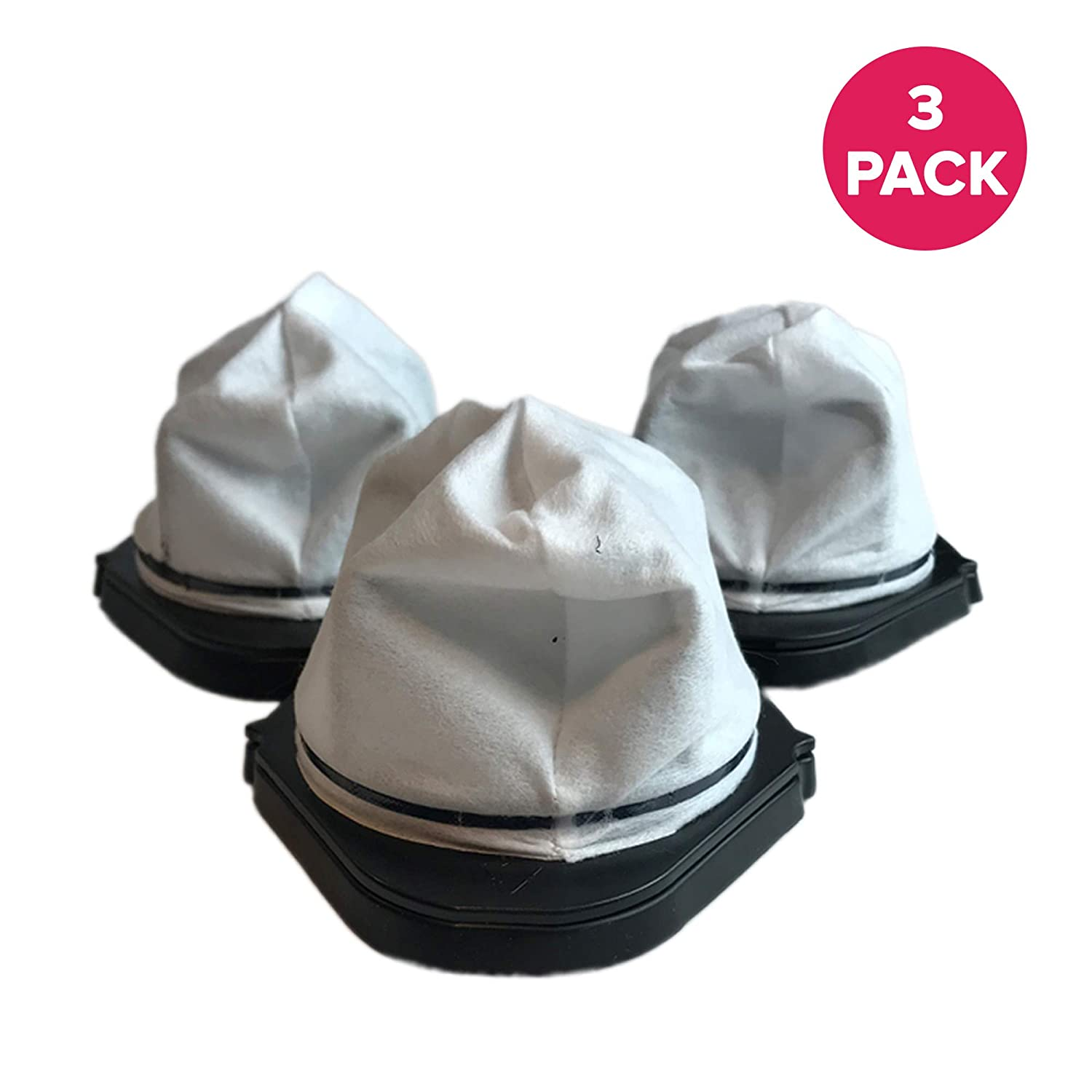 Crucial Vacuum3-Piece Dust Cup Filters for Shark Hand Vac Models