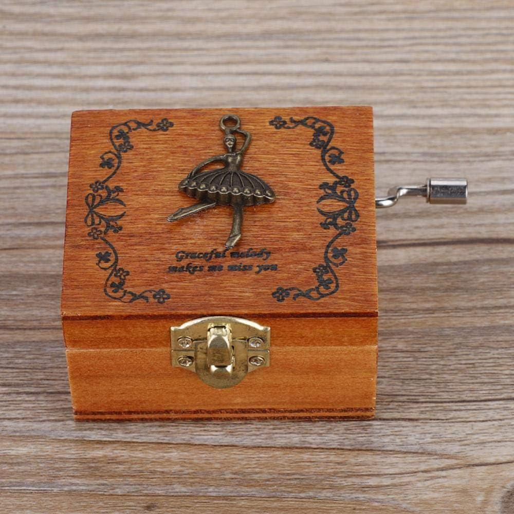 4 modelli 1pc Music Box in legno a manovella meccanica Classic Craft Beautiful Design come regalo di compleanno Music Box Ballet