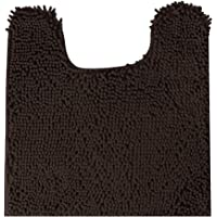 MAYSHINE Contour Bath Mats for toilet | nonslip | Soft | Absorbent water | Dry Fast | Machine-washable (20x24 Brown )