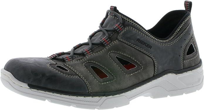 Rieker Herren 15285 Low Top, blau: : Schuhe
