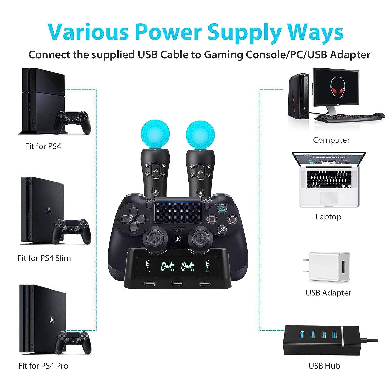 Amazon.com: EEEKit 4 in 1 Charging Dock Station PS4 VR ...