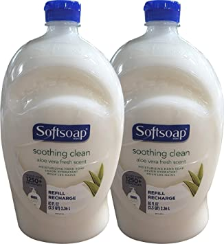Softsoap Hand Soap Soothing Aloe Vera Moisturizing Hand Soap Refill Twin Pack (Total 160 Fl. Oz, 80 Fl. Oz x 2)