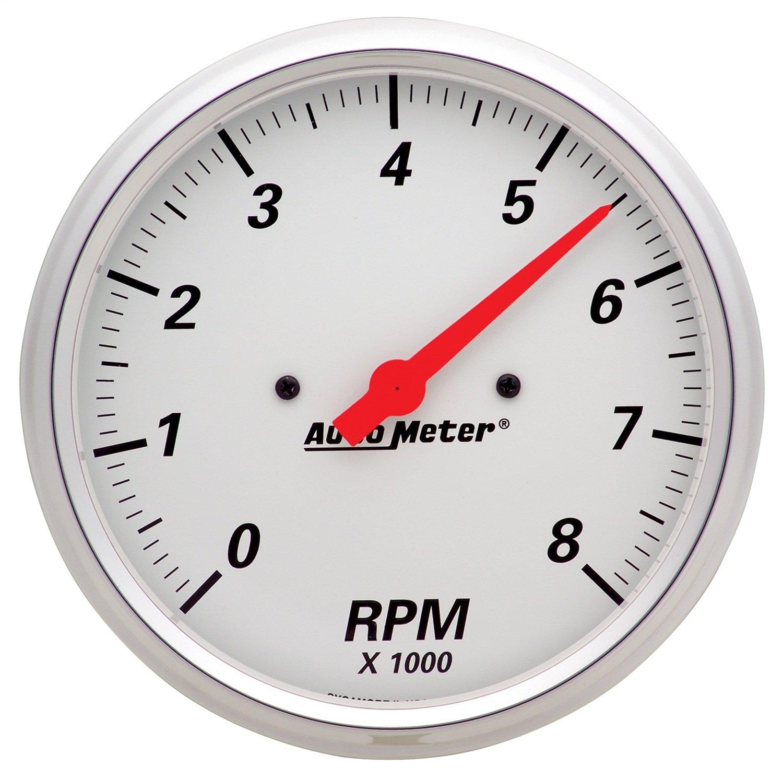 Auto Meter 1399 Arctic White 5' 8000 RPM In-Dash Tachometer