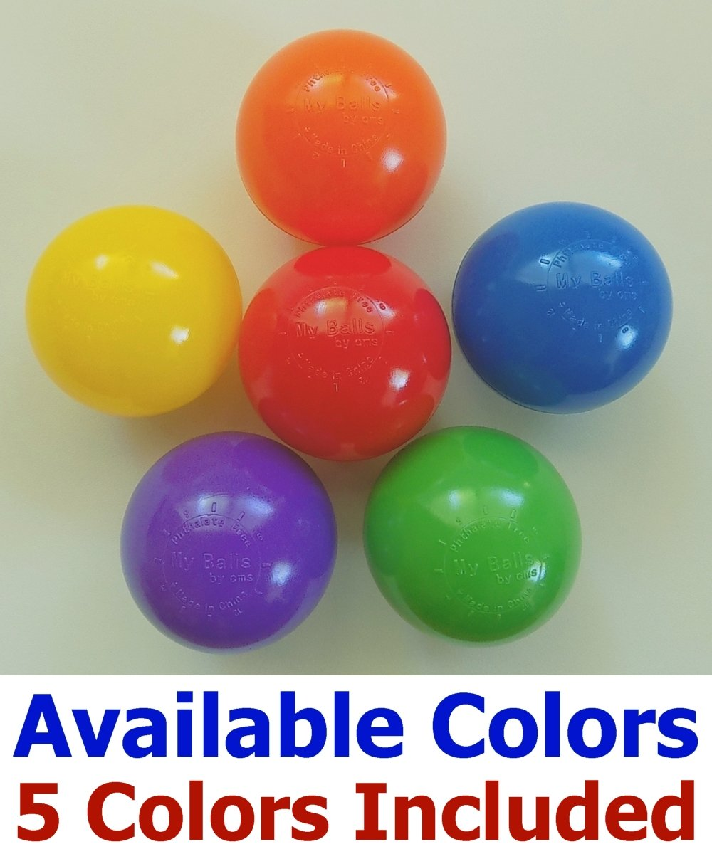 My Balls Pack of Jumbo 3'' Crush-Proof Ball Pit Balls - 5 Bright Colors, Phthalate Free, BPA Free, PVC Free, Non-Toxic, Non-Recycled Plastic by My Balls (Image #4)