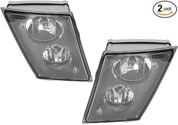 Passenger side WITH install kit LED -Black 2013 Volvo VNL DAYCAB-POST Post mount spotlight 6 inch