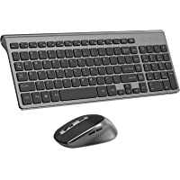 Wireless Keyboard and Mouse Combo, Compact Wireless Keyboard with Numeric Keypad and Ergonomic Full-size 2400 DPI Mouse…