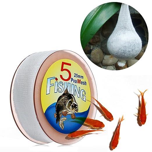 1PC Useful 5M PVA Mesh Refill Carp Fishing Stocking Rig Bait Bag 25//37//44mm