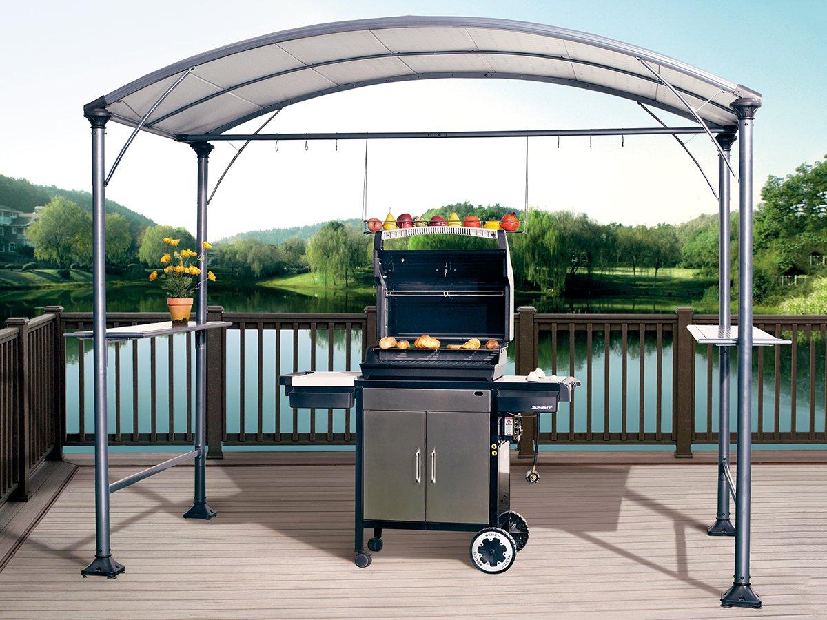Amazon Abba Patio 9 X 5 Outdoor Backyard BBQ Grill Gazebo With Steel Canopy Gray Garden