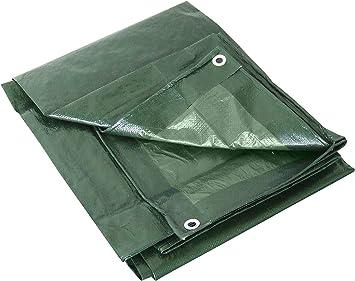 Labor 0300152Lona de PVC reforzada con ojales, verde, 0300153