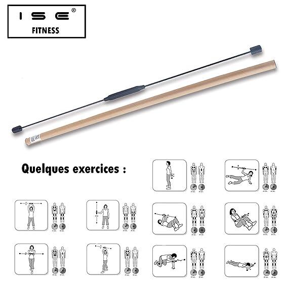 ISE Original Flexistab Swingstick - Barra Flexible de Gimnasia para ...