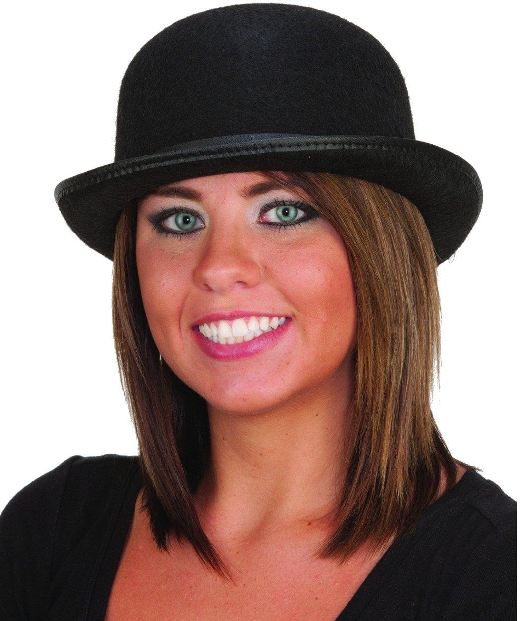 0d90d985d4306 Amazon.com  Fun World Unisex-Adult s Derby Hat-Black
