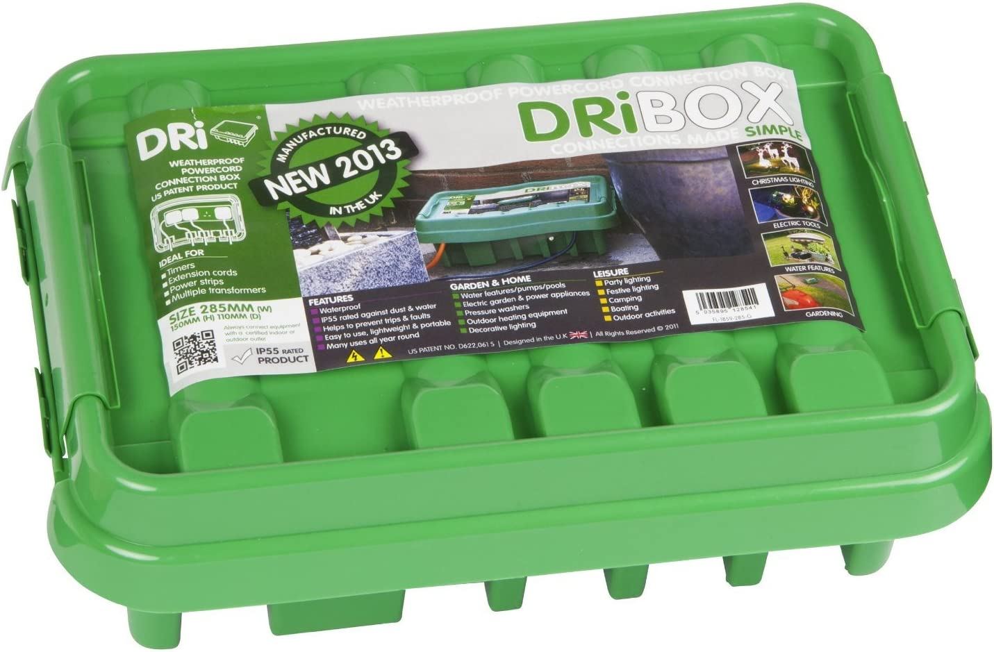 DriBox IP55 285mm Medium Weatherproof Box Black