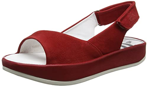 Bari855fly, Sandalias de Talón Abierto Para Mujer, Rojo (Lipstick Red), 39 EU FLY London