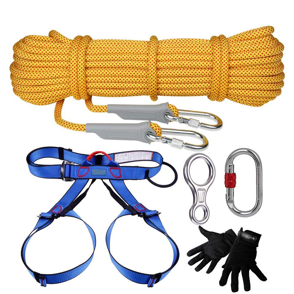 YTBLF Conjunto De Cuerda Al Aire Libre Rappelling Mountaineering Equipo Seguridad Cuerda Camping Cinturón De Seguridad: Amazon.es: Deportes y aire libre