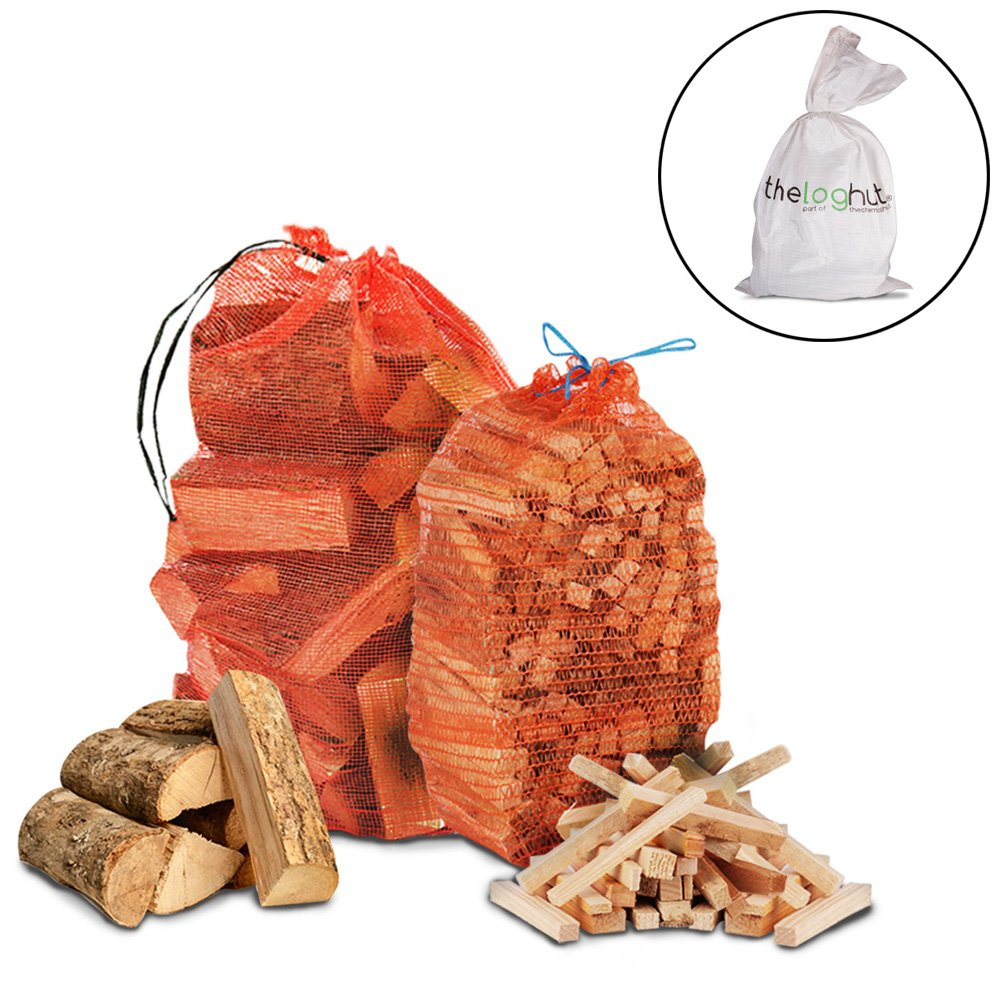15Kg Seasoned Dried Softwood Firewood & 3Kg Quality Wooden Kindling The Chemical Hut
