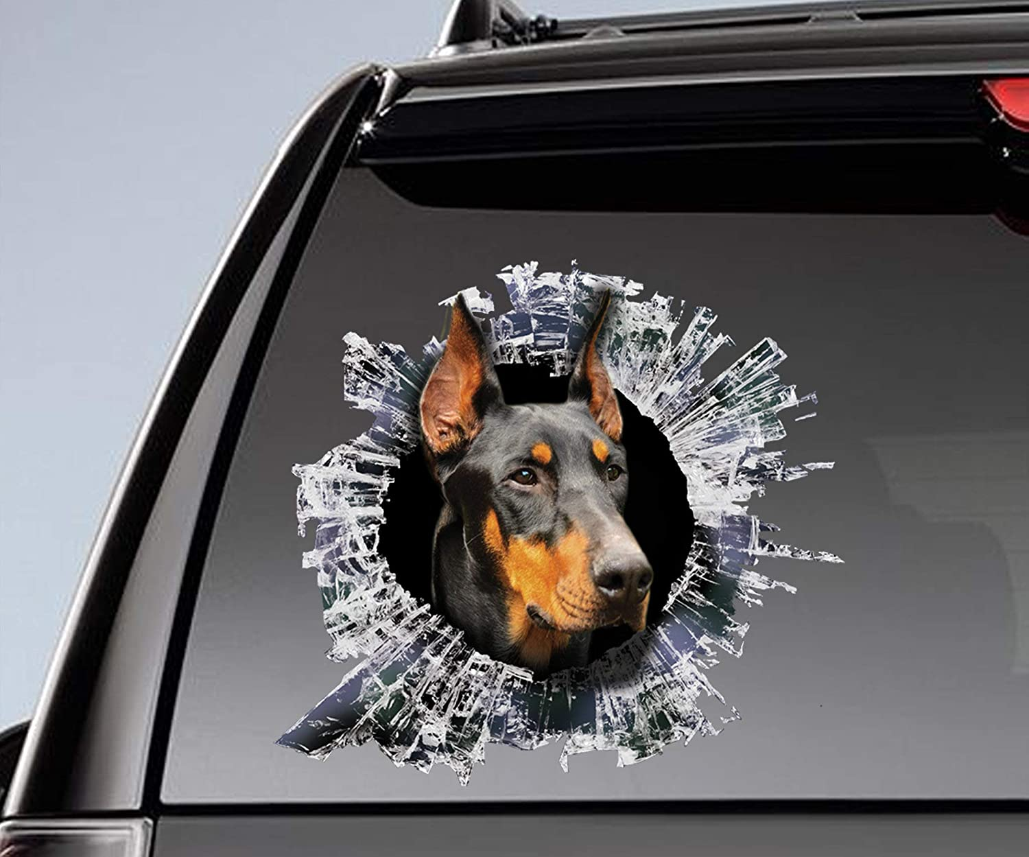 McC538arthy Decal Stickers for Cars Funny Window Decals Sticker Chihuahua Window Sticker Car Sticker Chihuahua Car Decal Self Adhesive Window Sticker for Van Truck Vehicle