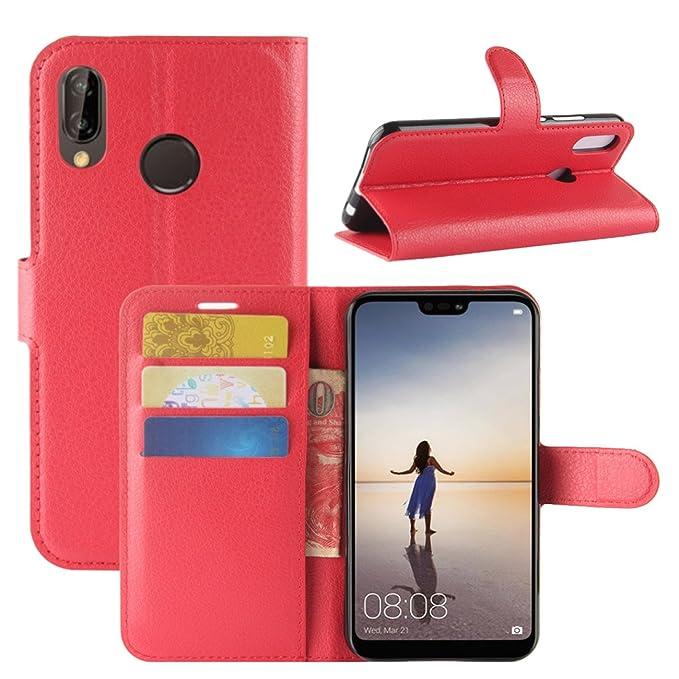 Amazon.com: Funda Huawei P20 Lite, fettion portafolios de ...