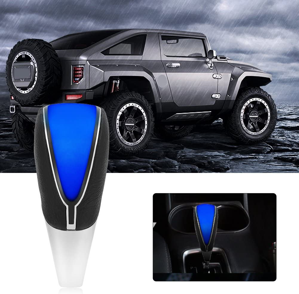 Universal Auto Schaltknauf Touch Motion aktiviert LED-Licht Schaltknauf Schwarz + Blau Schaltknauf