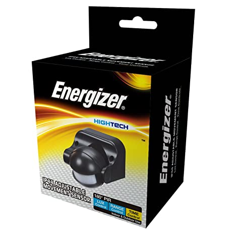 Energizer Sensor de movimiento 180 ° Independiente, Negro