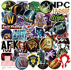 World of Warcraft Stickers for Laptop Cool Game Computer Water Bottles Cars Bicycle Motorcycle Luggage Notebook Phone Bomb Graffiti Decals 50pcs