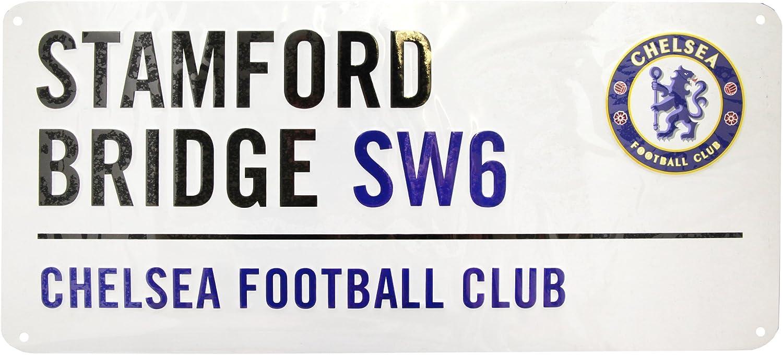 Placa met/álica decorativa oficial de Chelsea FC Talla /Única//Blanco Chelsea FC