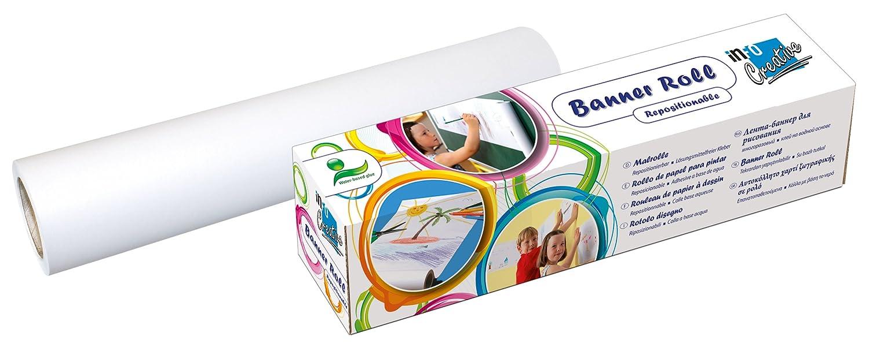 Global Notes 8711-08 Info Creative - Rotolo di carta da disegno, 300 mm x 12,2 m, bianco AMC Pancke AG