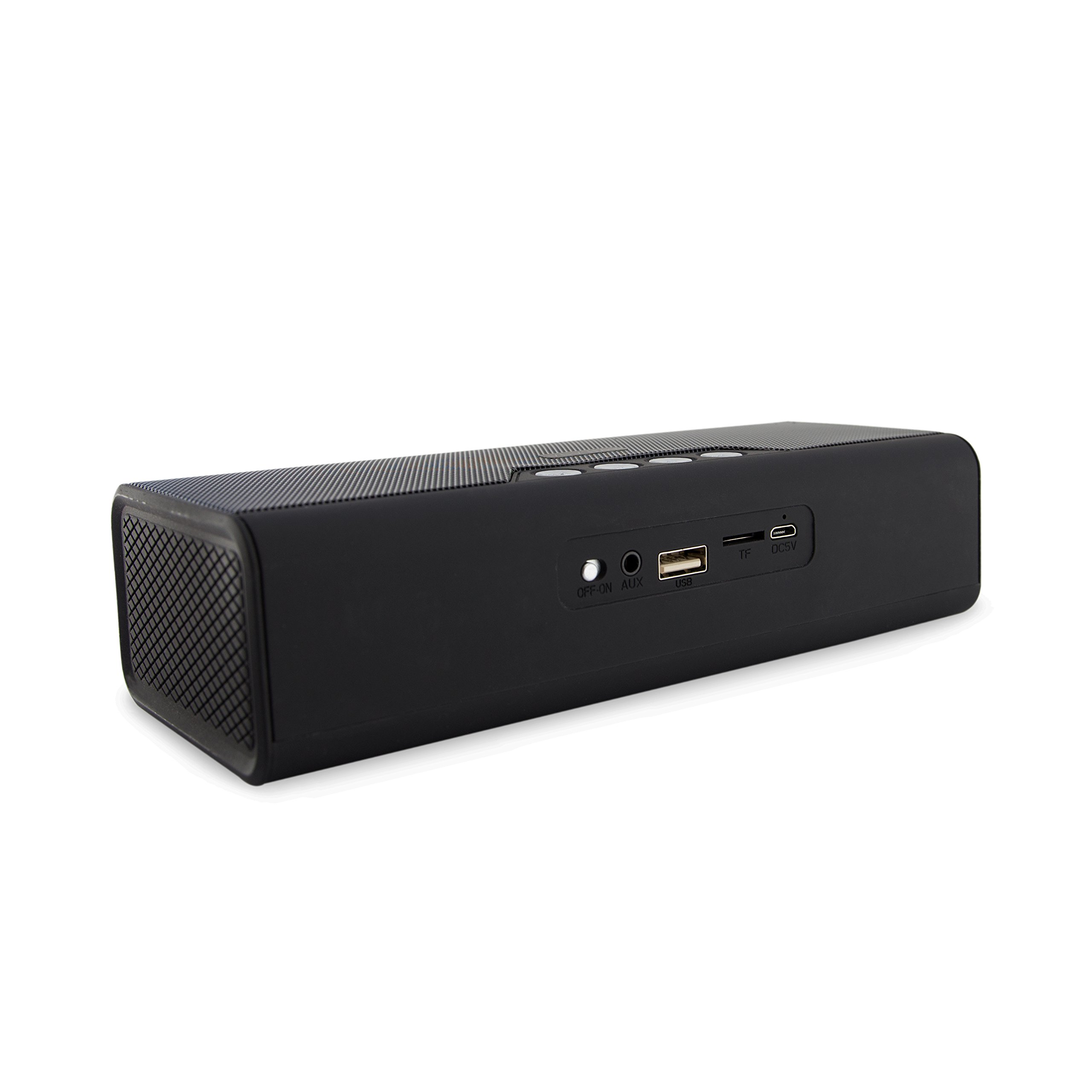 Portable Bluetooth Speaker - Wireless Travel Speakers and Phone Charger for iPhone, iPod, and Android Phones - With Aux Input, Deep Bass, and Stereo Sound by Avilana by Avilana (Image #3)