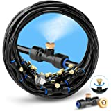 "HOMENOTE Misting Cooling System 75FT (23M) Misting Line + 28 Brass Mist Nozzles + a Brass Adapter(3/4"") Outdoor Mister…"