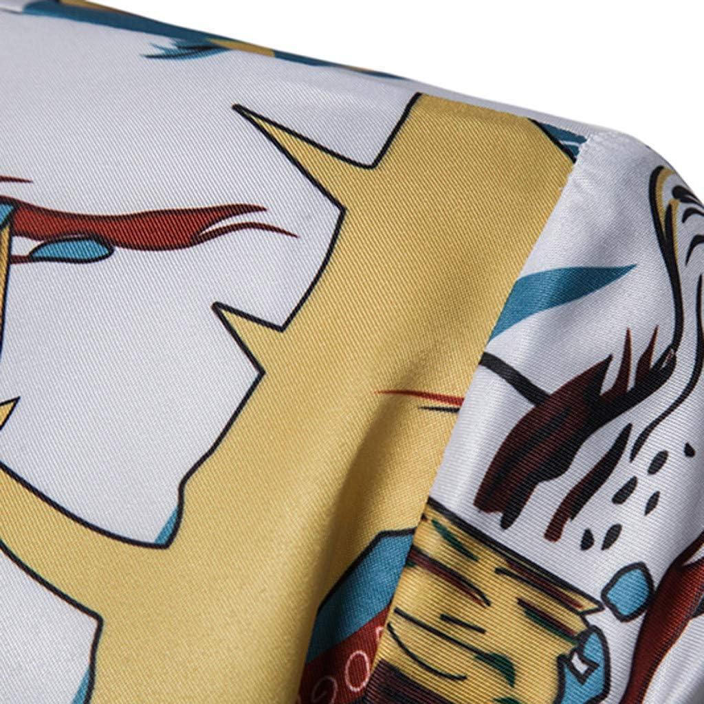 MOTOCO Hombre Casual 3D Floral Impreso Camisas de Manga Corta ...