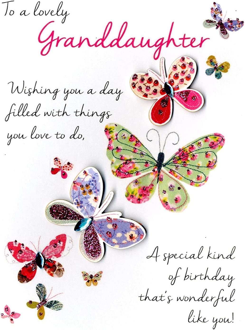 Lovely Granddaughter Birthday Greeting Card Second Nature Just To Say Cards