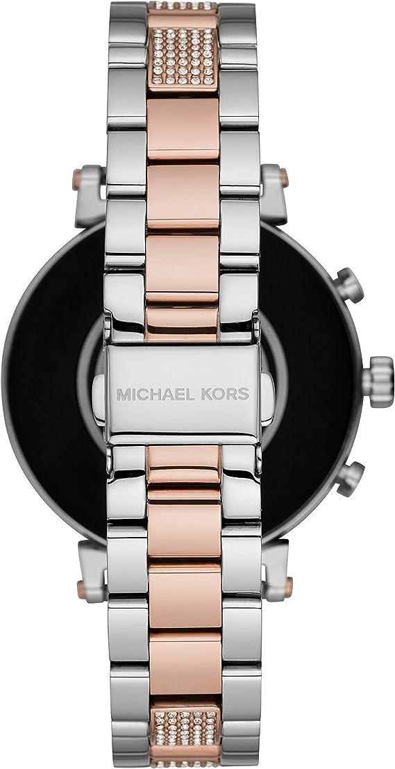 Michael Kors Smartwatch Pantalla táctil para Mujer de Connected con Correa en Acero Inoxidable MKT5064: Amazon.es: Relojes