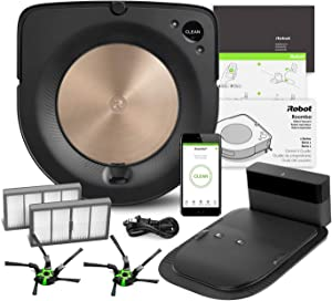 iRobot Roomba s9 (9150) Robot Vacuum Bundle - Wi-Fi Connected, Smart Mapping, Powerful Suction, Works w/Alexa, Ideal for Pet Hair, Carpets, Hard Floors (+1 Extra Edge-Sweeping Brush, 1 Extra Filter)