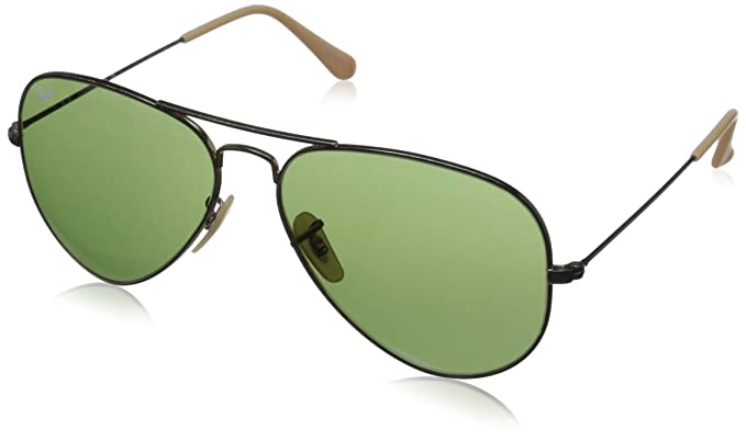 a70a60e0e1 Ray-Ban AVIATOR LARGE METAL - ANTIQUE GOLD Frame GREEN Lenses 62mm  Non-Polarized