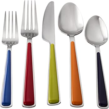 7. Fiesta 20-Piece Merengue Flatware Set