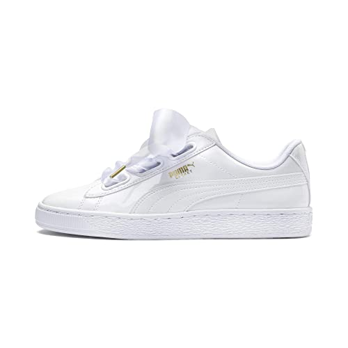 Ir al circuito elefante Parcial  Buy Puma Women's Basket Heart Patent Sneakers at Amazon.in