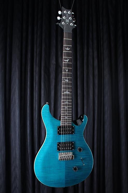 PRS trcsa se Custom 24 diseño guitarra eléctrica, Sapphire: Amazon ...