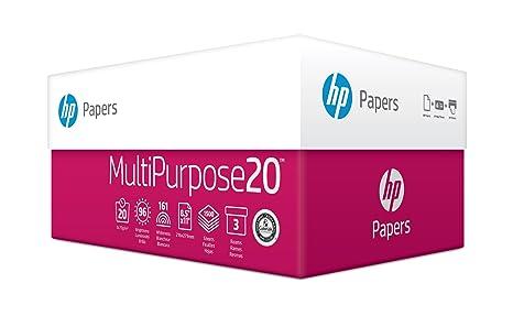 HP Printer Paper, Multipurpose20, 8 5 x 11 Paper, Letter Size, 20lb Paper,  96 Bright, 1,500 Sheets / 3 Ream Carton (112300C) Acid Free Paper