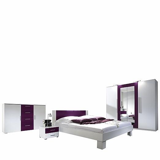 Mirjan24 Schlafzimmer-Set Vera, Elegante Bett, Kommode ...