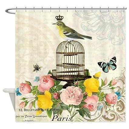 Amazon CafePress Vintage French Birdcage And Bird Shower