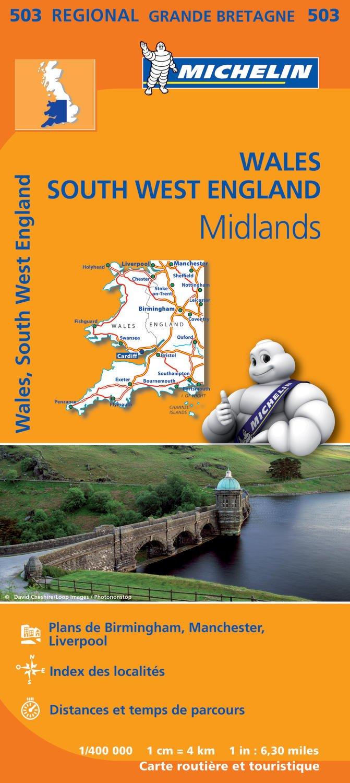 Carte Touristique Kent Angleterre.Amazon Fr Carte Pays De Galles Midlands Angleterre Sud Ouest
