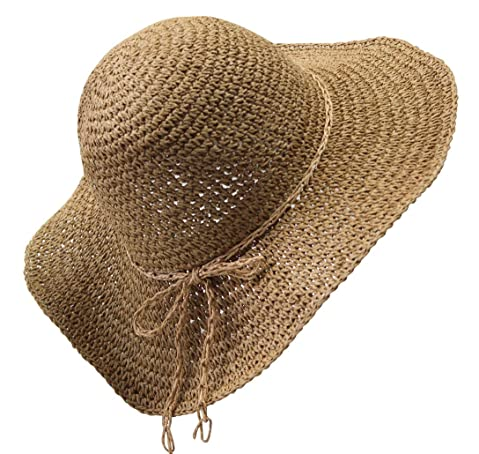 b5654f66072 Womens Fashion Summer Straw hat Sun hat Folding Travel Beach Cap