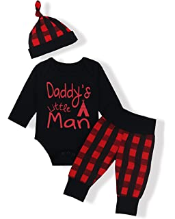 337140806232 Newborn Baby Boy Girl Clothes Long Sleeve Cute Onesie Camo Pants with Hat  Outfit Set