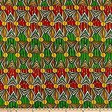 Shawn Pahwa African Print Mzwandile Fabric, Yellow/Green, Fabric By The Yard