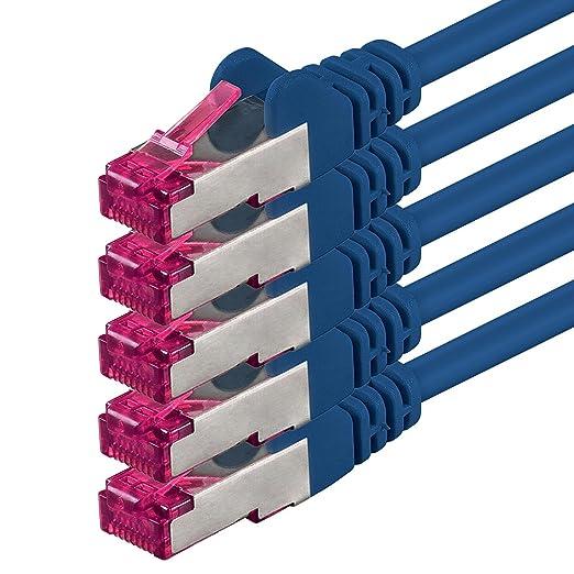 4 opinioni per 0,25m- blu- 5 pezzi- Rete Cavi Cat6a |