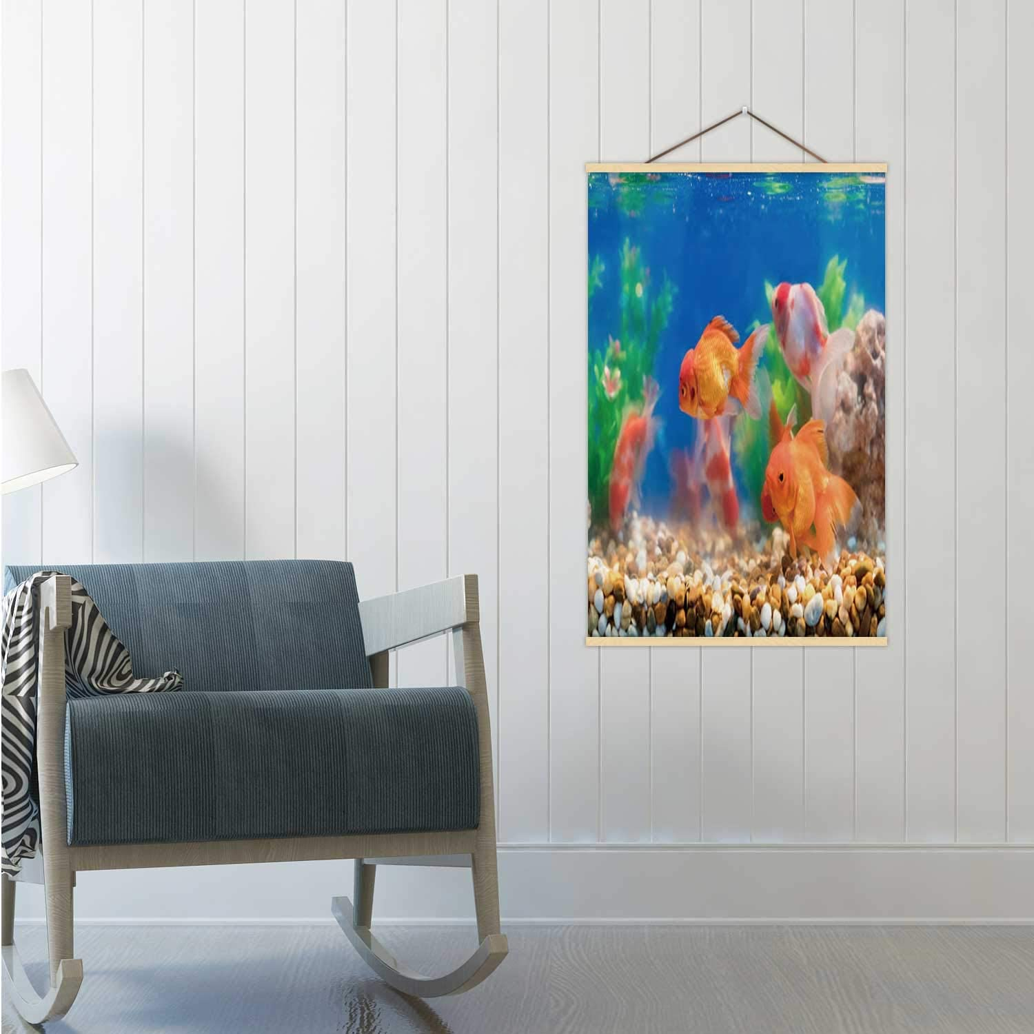 Amazon Com Goldfish In Freshwater Aquarium With Green Beautiful Planted Tropical Thailand Poster Board Fishbowl 16 19 24 Frams 24x35in Wxh Posters Prints